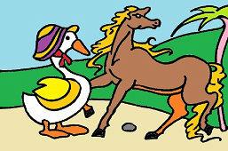 Koń i gęsi
