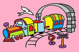Kolorowy pociąg