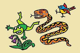 Żaba i wąż