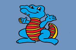 Niebieski krokodyl