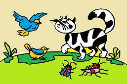 Kot i ptak