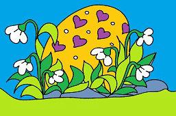 Największe malowane jajko