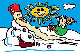 Bałwan na lodzie