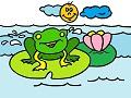 Żaba i lilia wodna