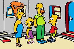 Cała rodzina Simpson