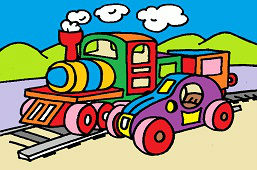 Pociąg i samochód