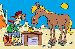 Kowboj Bill i koń