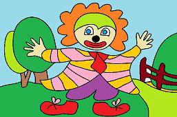 Kolorowy klaun