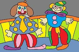 Dwa klaunów cyrkowych