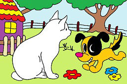 Kot i szczeniak