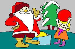 Santa i dziewczyna