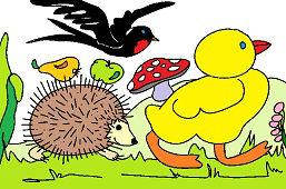 Żółty kurczak i przyjaciele