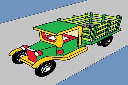 Ciężarówka drewniana