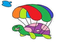 Żółw ze spadochronem