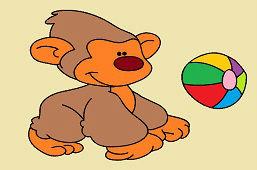 Małpa i balon