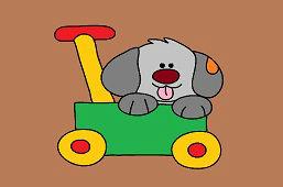 Piesek w wózku