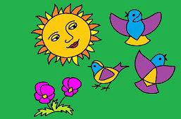 Ptaki i słońce