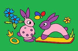 Dwie małe króliczki