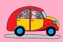 Króliki w samochodzie