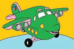 Różowy samolot