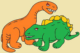 Stegosaurus i Brontosaurus
