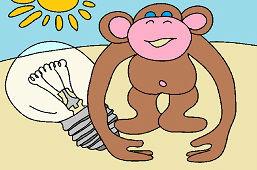 Fioletowa małpka