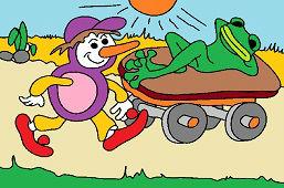 Osmijanko i leniwa żaba