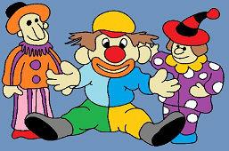 Trzy klaunów