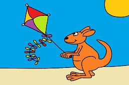 Kangur z latawcem