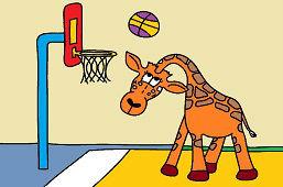 Żyrafa i koszykówka
