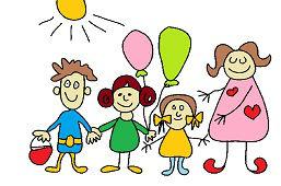 Dzieci z nauczycielem