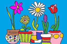 Kwiaty w doniczkach