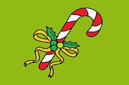 Kije świąteczne cukierki