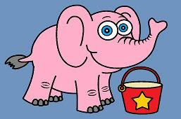 Słoń i wiaderko