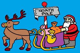 Święty Mikołaj na saniach