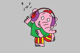 DJ – słoń