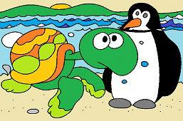 Żółw Zofia i pingwin