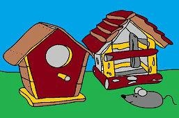 Skrzynki dla ptaków i mysz