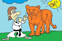 Walka z lwem