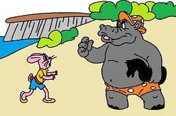 Zając i hipopotam