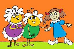 Ciotki pszczoły i dziewczyna