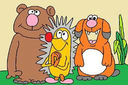 Niedźwiedź, jeż i pies