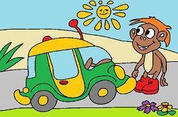 Chłopiec i samochódzik