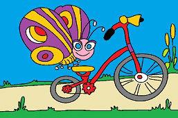 Motyl i rower
