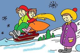 Dzieci na sankach
