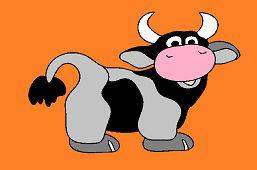 Uśmiechnięta krowa