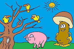 Grzybek i świnka