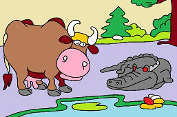 Krowa i krokodyl