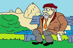 Dziadek na ławce