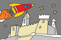 Wahadłowiec i zamek